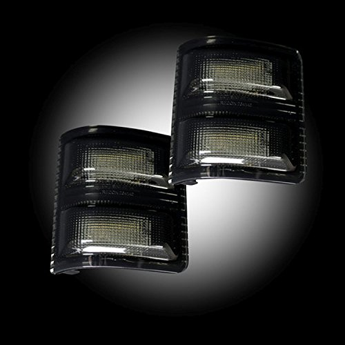 RECON 264140WHBKS 08-16 Ford F250 F350 Superduty Smoked 2 Piece Mirror Light LED