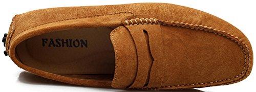 Abby Hombres Qz-2088 Confort De La Moda Acogedor Cosiness Hombresaje Chirismus Conducción De Zapatos De Cuero Plano Soplado
