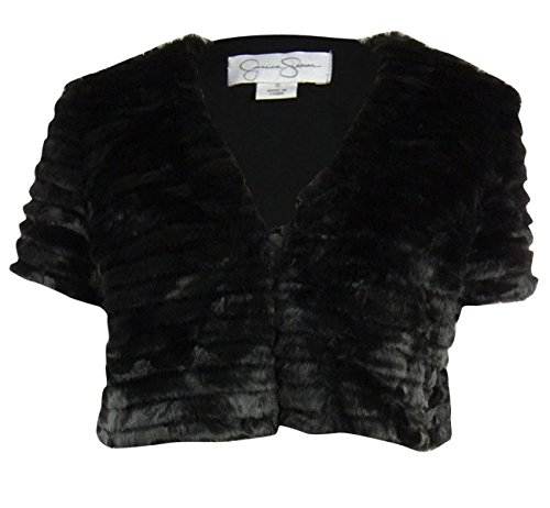 Jessica Simpson Women's Cropped Faux Fur Jacket , Black, Small Faux Fur Cropped