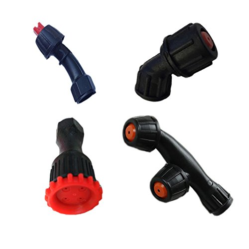 Set of 4 Spray Nozzles Plastic Female Thread for Weed Sprayer & Pest Control
