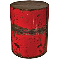 GROOVYSTUFF TF-1001-RE Round Ruby Moonshine Side Table Stool
