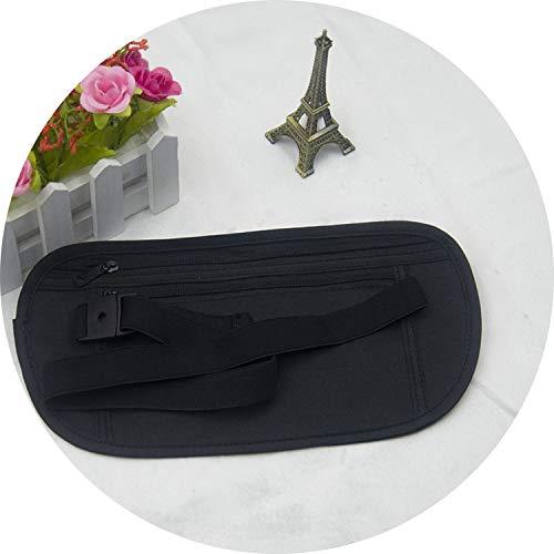 Fanny Pack For Women Men Waist Bag Colorful Unisex Waist Pack Female Belt Bag Male Zipper Bum Bag Hip Pouch,24X14Cm Black