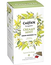 Carmién Tea Pyramid Creamy Mint Green Rooibos Tea (20 Teabags),