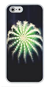 5S Cases, iPhone 5S Protective Case - Cactus Flower High Quality PC Plastic Slim Lightweight Hard Case Cover for iPhone 5/5s White