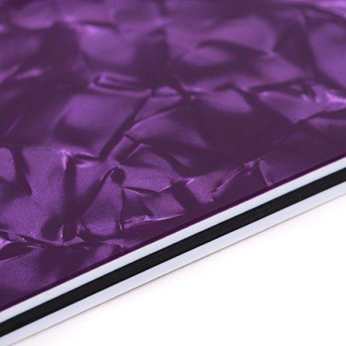 Musiclily 4Ply 12x17 Inch Uncut Guitar Body Blank Scratch Plate Pickguard Sheet DIY Guitar Bass Custom Material,Purple Pearl