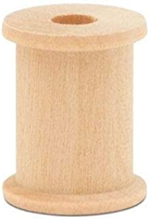 product image for Wooden Spools 1-1/8 x 7/8-inch Pack of 100 Splinter-Free, Birch Wood spools for Crafts and Unfinished Wood Ornaments by Woodpeckers