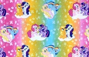 """My Little Pony Cotton Window Curtain Valance handmade 42""""W x 15""""L made from RealTree FABRIC"""