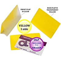 Yellow/Clear Business Card Laminating Pouches 2-1/4 x 3-3/4 Qty 100 by LAM-IT-ALL