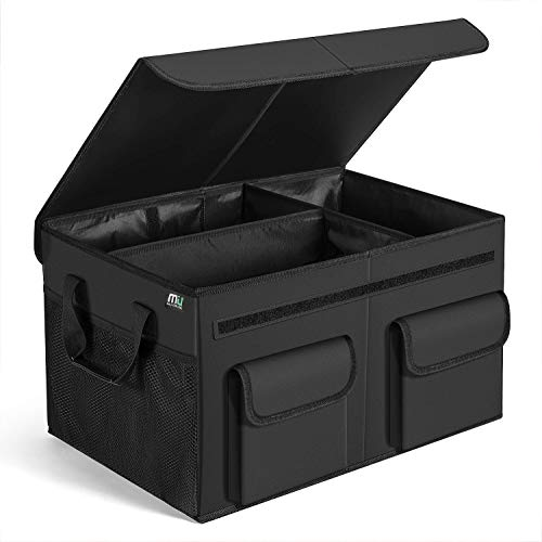 MIU COLOR Car Trunk Organizer - Foldable Cargo Trunk Organizer with Durable Cover Washable Storage with Reinforced Handles (Lids Car)