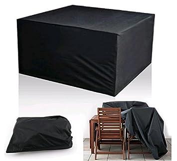 Diossad Housse de Protection Table de Jardin Rectangulaire Polyester ...