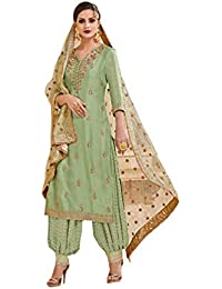 8378e5732d Indian Pakistani Ethnic wear Heavy Georgette Patiala Salwar Kameez 3503