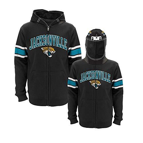 (Outerstuff Jacksonville Jaguars NFL Black Helmet Team Full Zip Hoodie Fleece Youth (S-XL))