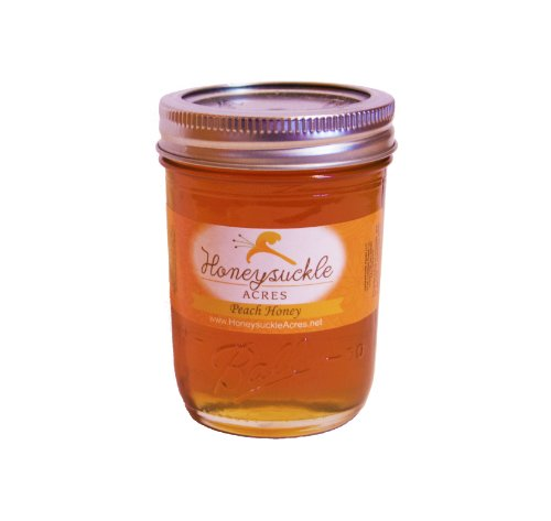 Peach Honey - Organically Flavored - Glass Jar (Net Wt 11 - Flavored Honey