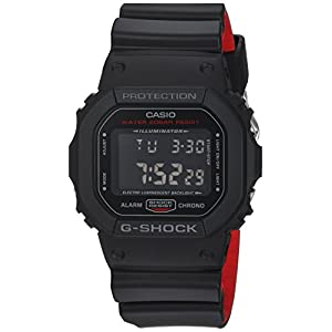 41LEfs41f%2BL. SS300  - Casio Men's G Shock Quartz Watch with Resin Strap, Black, 25 (Model: DW-5600HR-1CR)