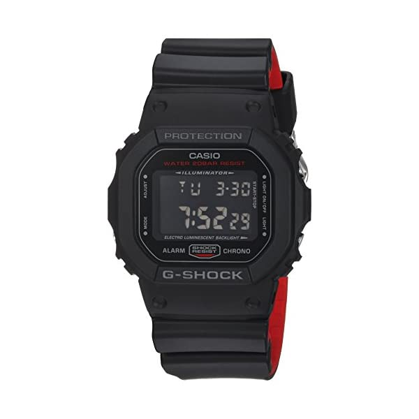 41LEfs41f%2BL. SS600  - Casio Men's G Shock Quartz Watch with Resin Strap, Black, 25 (Model: DW-5600HR-1CR)