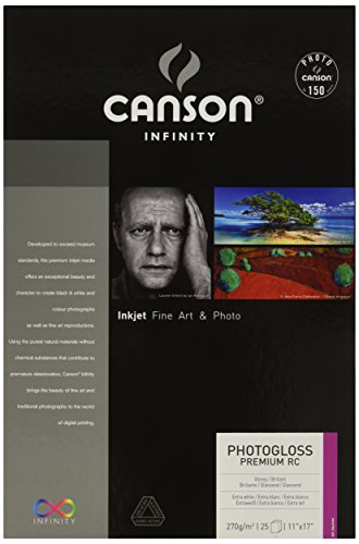 Canson Infinity PhotoGloss Roll, Acid Free Fine Art Paper, 270 Gram, 11 x 17 Inch, 25 Sheets