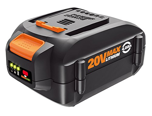 WORX WA3578 20V Power Share 4.0 AH Battery, Orange and Black
