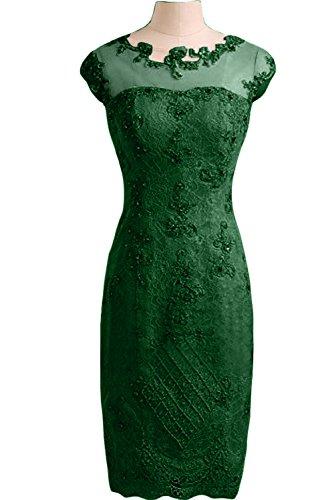 Ivydressing Tuell Abendkleid Dunkelgruen Festkleid Linie Damen Etui Applikation Partykleid Spitze Liebling FfF4xZ