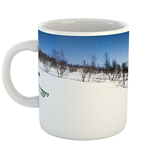 Westlake Art - Ski Skiing - 11oz Coffee Cup Mug - Modern Picture Photography Artwork Home Office Birthday Gift - 11 Ounce (Freeride Telemark Skis)