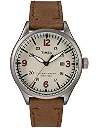 Waterbury Traditional Men Leather Brown Watch - TW2R38600