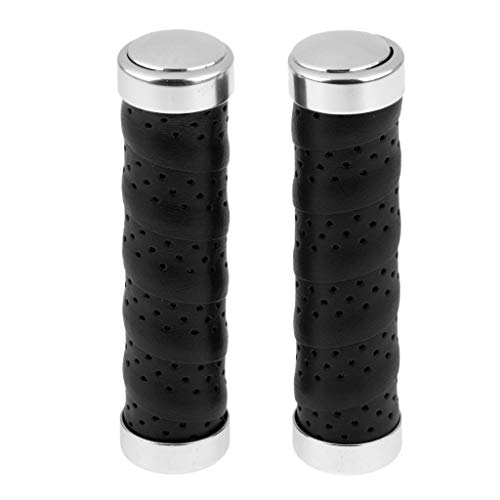 Baosity 1 Pair Black Handlebar Grips Cycling Components for MTB BMX Mountain Downhill and Folding Bike Bicycles
