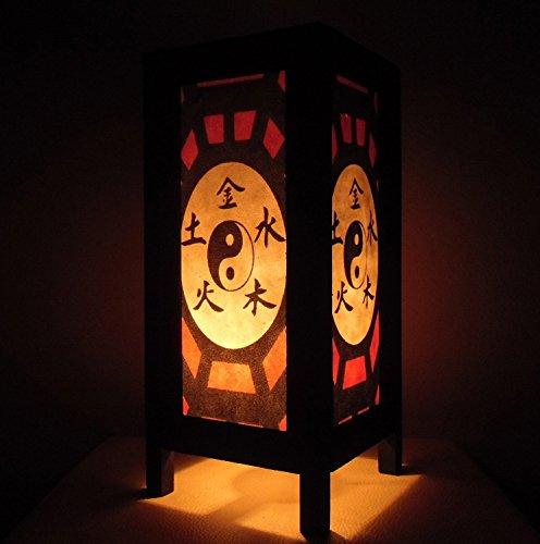 M$M shop ASIAN Oriental Handcraft Taoism Yin Yang Chinese Zen Art Bedside Table (Jack Daniels Glass Mug)