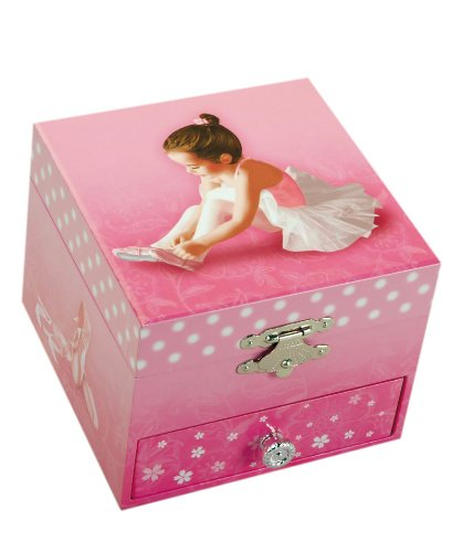 "MusicBox Kingdom 22120 Ballerina Musical Jewelry Box, Playing ""Swan Lake"""