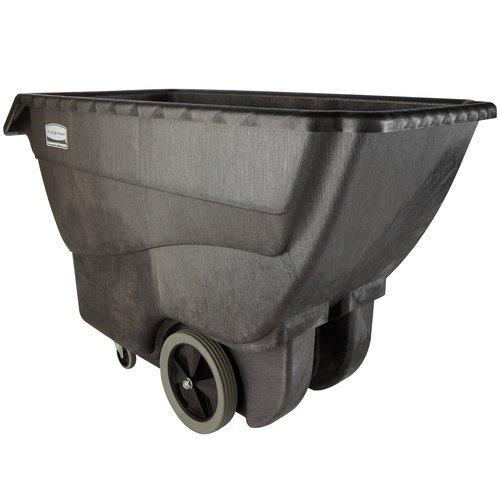 Rubbermaid Structural Foam Tilt Trucks - 1000-Lb. Capacity - Black