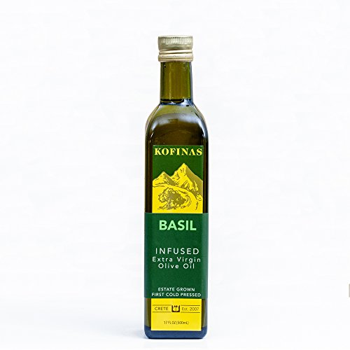 Basil Infused Extra-Virgin First Cold-Pressed Olive Oil 500 Ml (17 Oz) (Basil Flavored) ()