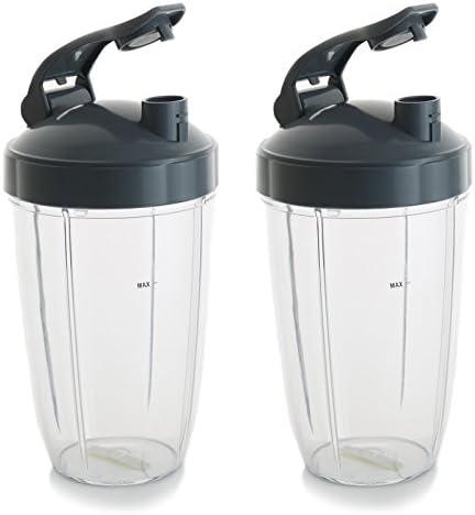 24 oz vasos para Nutribullet licuadora W/fugas tapa a Go Tapa. Se ...