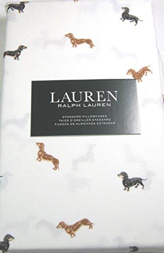 Lauren Standard Pillowcases Set of 2 100% Cotton Daschshund Dogs 100% Cotton
