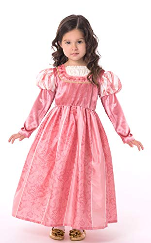 Little Adventures Coral Renaissance Princess Dress Up Costume for Girls (Large Age 5-7)