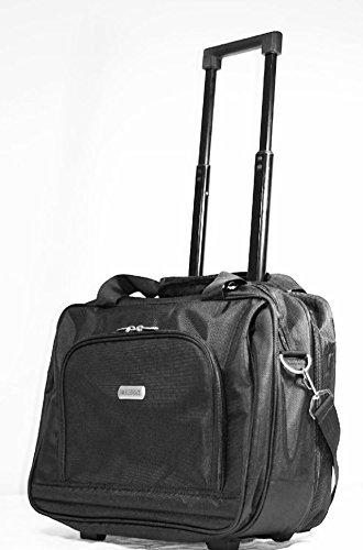 "WISDOM 16"" Wheeled Rolling Laptop Bag Notebook, Tablet Ca..."