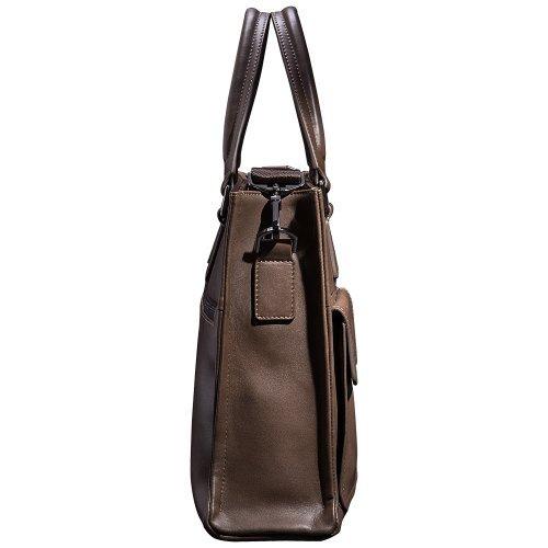 Mens Business Tote Handbag Doctor Leather Document Clutch Bag Strap by MXPBJ (Image #3)