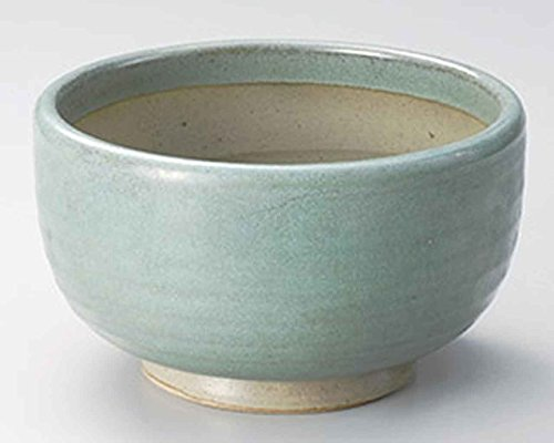 Oribe 7.5inch Set of 2 Ramen-Bowls Green Ceramic Made in Japan by Watou.asia