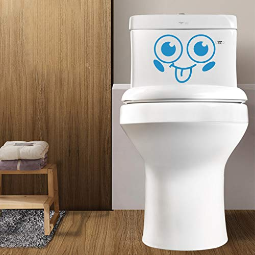 Toilet Stickers, Hoshell Lovely Smiling Face Free Decoration Fashion Bedroom Home Toilet Toilet Stickers -