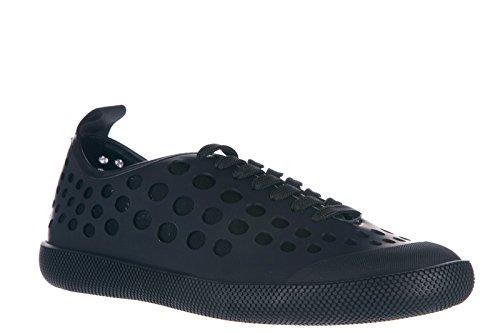 Prada chaussures baskets sneakers homme en cuir vit rubber noir