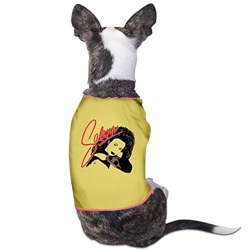 [PET-Funny Selena Singer Face Pet Dog Clothing.] (Elvis Presley Dog Costumes)