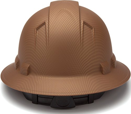 Pyramex Safety PYRAMEX - HP54118 - Copper - Full Brim Ridgeline Full Brim Graphite Pattern Hard Hat, Copper Graphite Pattern by Pyramex Safety (Image #3)