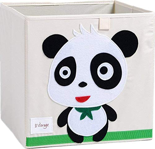 NEWBEER Toy Storage Box Kids Childrens Cute Animal Cartoon Collapsible Organizer 33x33x33cm 25L
