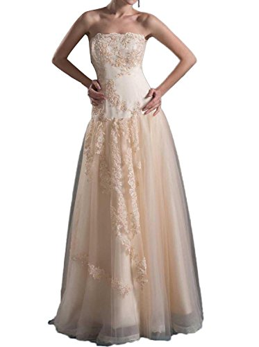 Albizia Satin Column Strapless Dropped Waist Wedding (Dropped Waist Wedding Dress)