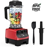 Homgeek Blender, Professional Countertop Blender 1450W, High Power Blender with High Speed, Built-in Timer, Smoothie Maker 68 oz for Crusing Ice, Frozen Desser, Soup - Tritan Jar