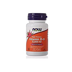 NOW Foods Vitamin D3 5000 Iu, 120-Softgels