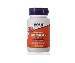 NOW Foods Vitamin D3 5000 Iu, 120-Softgels