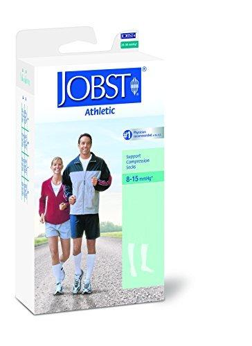 Jobst Jobst Athletic 8 15 Mmhg Knee Length Unisex Socks Medium White, Medium White 1 pair by Jobst