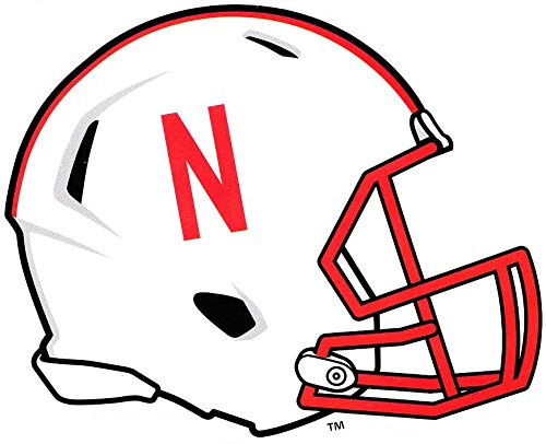 - 6 Inch Huskers Football Helmet University of Nebraska NU Cornhuskers Logo Removable Wall Decal Sticker Art NCAA Home Room Decor 6 by 5 Inches
