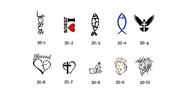 Set de plantillas para tatuaje temporal brillante Fengda S20 ...