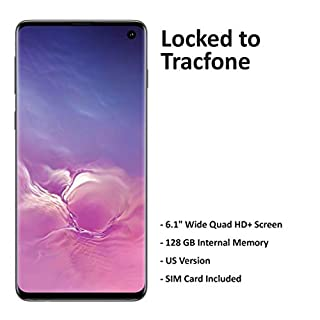 Tracfone Carrier-Locked Samsung Galaxy S10 Prepaid Smartphone - White - 128GB - Sim Card Included – CDMA/GSM