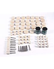 Wool Polishing Wheel 90Pcs Abrasive Soft Felt Polishing Buffing Clean Wheel Mixed Kit for Rotary Tools