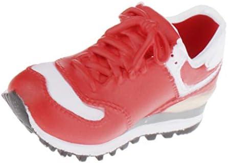 ドール用 ファッション スニーカー スポーツシューズ 靴 1/6スケール BJD人形適用 全5色 - 赤